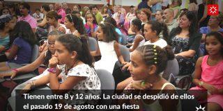 Rivas despide a los niños y niñas saharauis