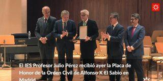 El ministro de Educación galardona al IES Profesor Julio Pérez