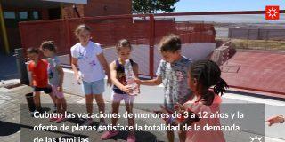 Los campamentos urbanos refrescan el verano de 1.900 niños y niñas