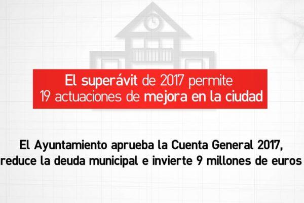 9 millones de inversión para acciones de ciudad