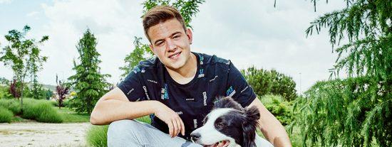 Adrián Bajo y su perra, subcampeones de España