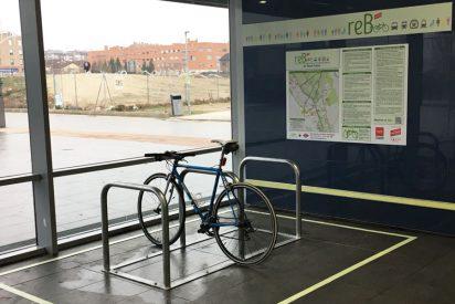 Aparcamiento para bicis en el metro Rivas Futura