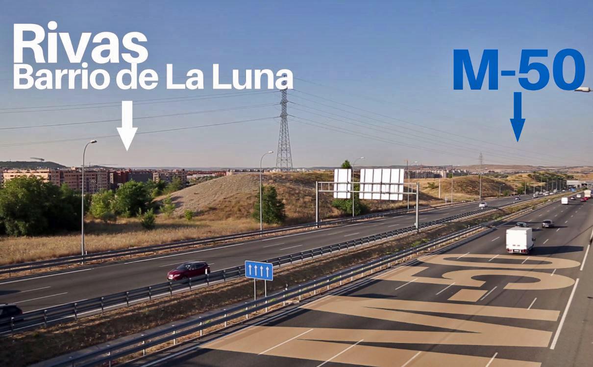 M-50: Rivas da el primer paso, 1,1 millones