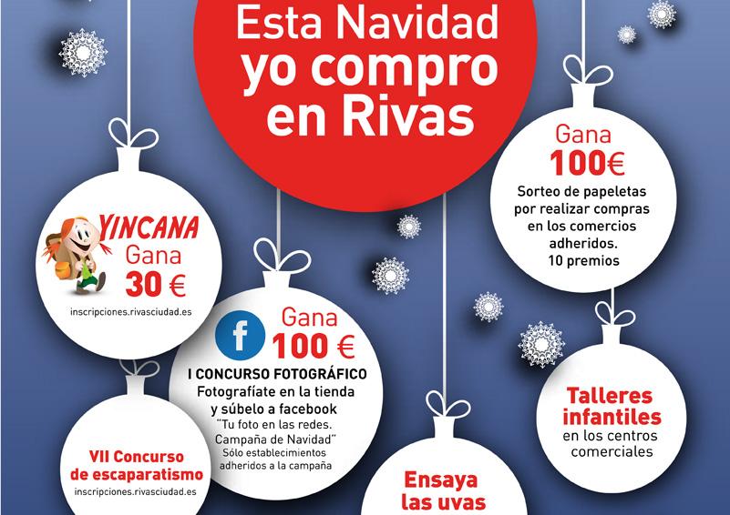 Campaña de Navidad en comercios de Rivas
