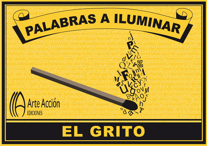 Poesía visual en la muestra 'Palabras a iluminar'