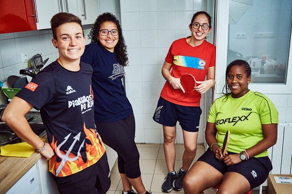 Deportistas de clubes de Rivas, en pisos EMV