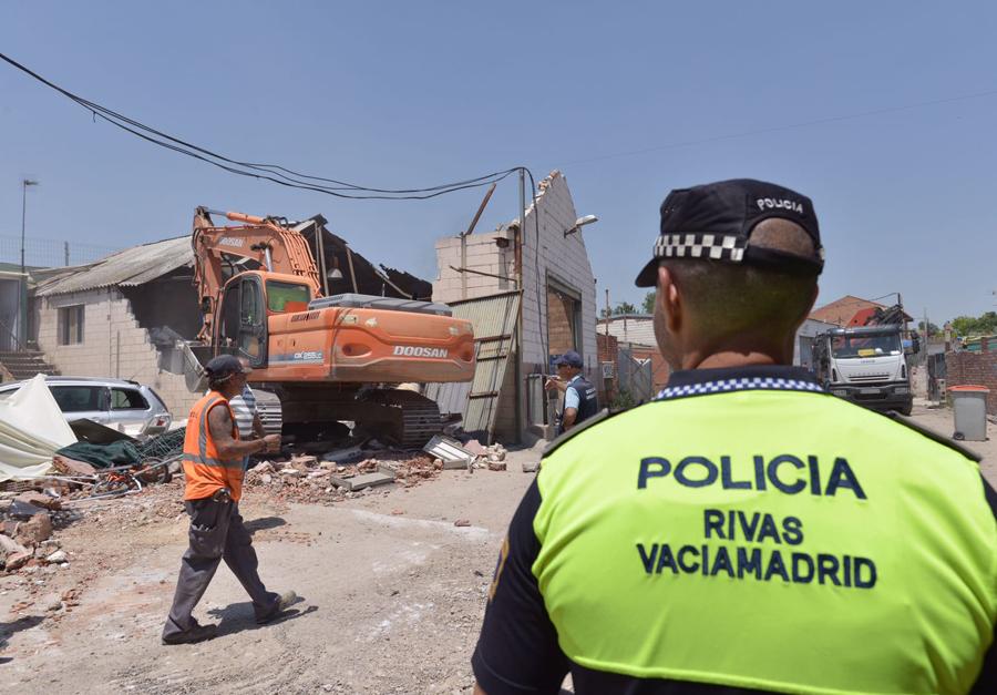 Operación contra el narcotráfico en Cañada Real
