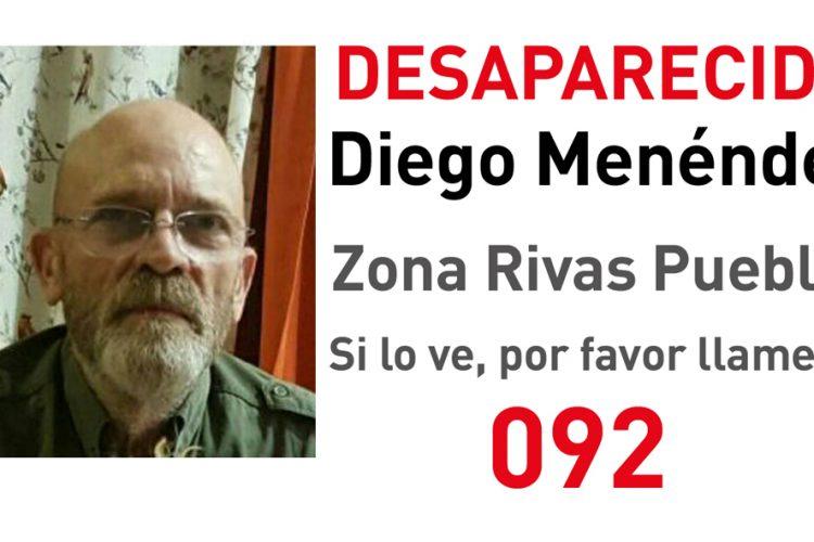 Diego, vecino con Alzheimer, desaparecido