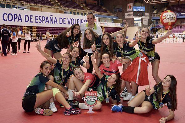 Campeonas de la Copa de España de voleibol