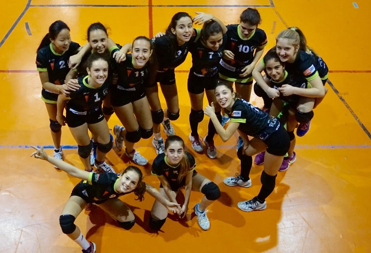Las infantiles, campeonas de Madrid de voleibol