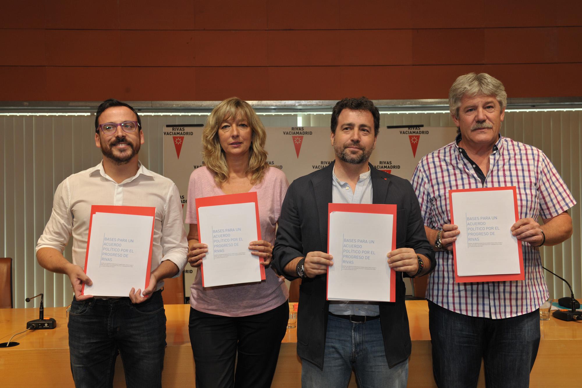 Somos Rivas, Rivas Puede y PSOE se ponen de acuerdo