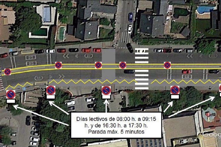 Nuevas medidas de tráfico en el entorno de colegios