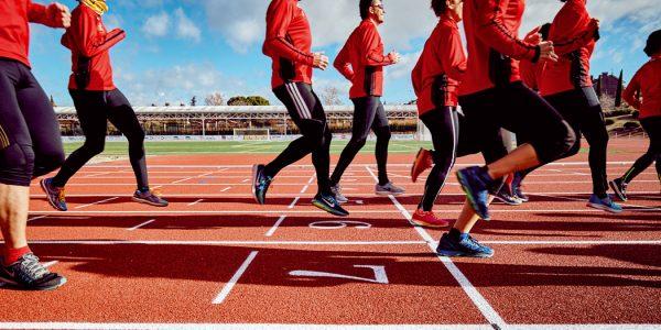 Evento deportivo: estreno de la pista de atletismo