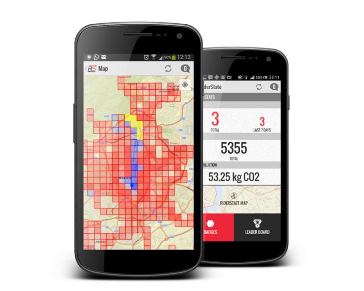 Suma km en bici con una aplicación móvil