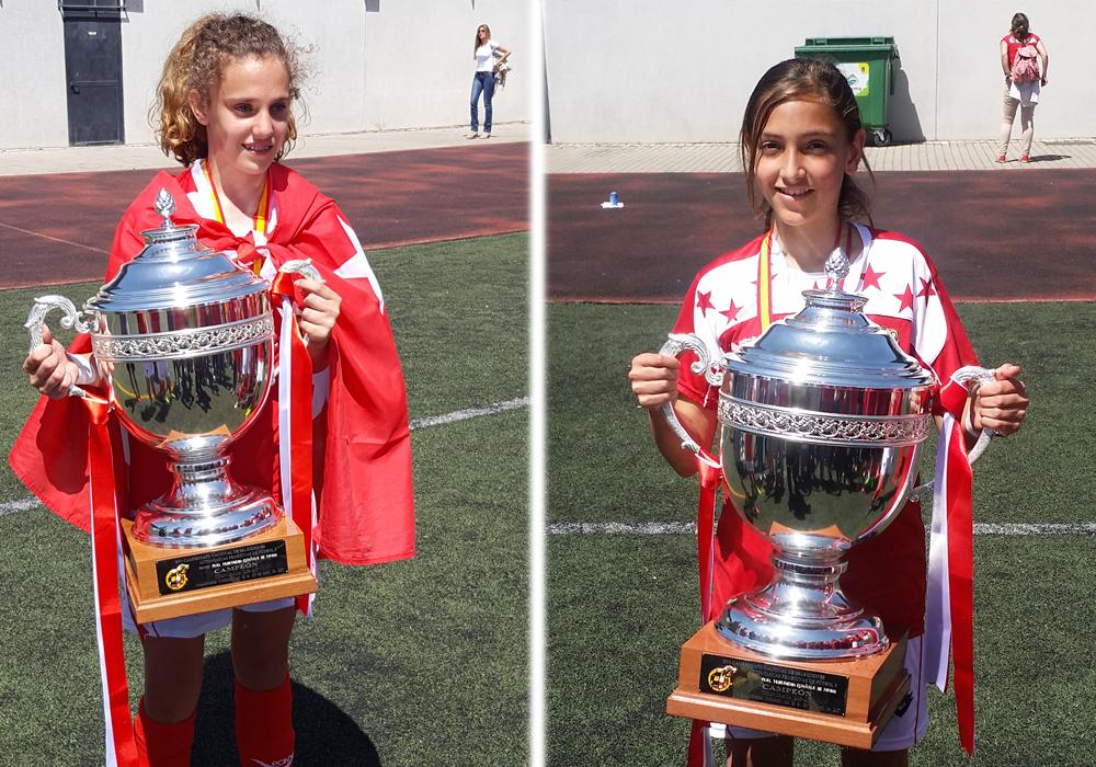 Paula y Sandra: campeonas de España de fútbol
