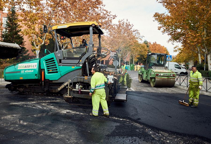 Trabajos de asfaltado: mejora de viales