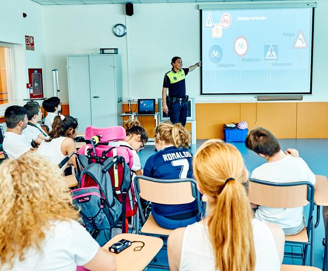 Arranca el programa de Educación Vial en los centros educativos de Rivas