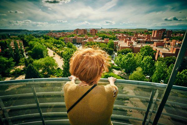 Mirador parque Lineal: Rivas desde el cielo