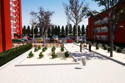Animación 3D Barrio Covibar (color rojo)