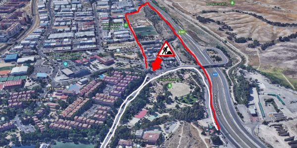 Cortado el túnel de Rivas oeste dirección Madrid