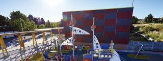Un parque infantil singular en el Bhima Sangha