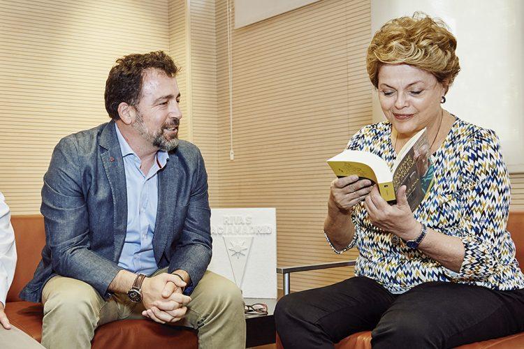 Dilma Rousseff, ex presidenta de Brasil, en Rivas