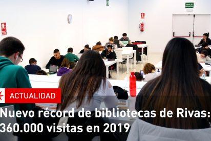 Nuevo récord de bibliotecas de Rivas: 360.000 visitas en 2019