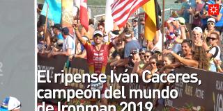 El ripense Iván Cáceres, campeón del mundo de Ironman 2019