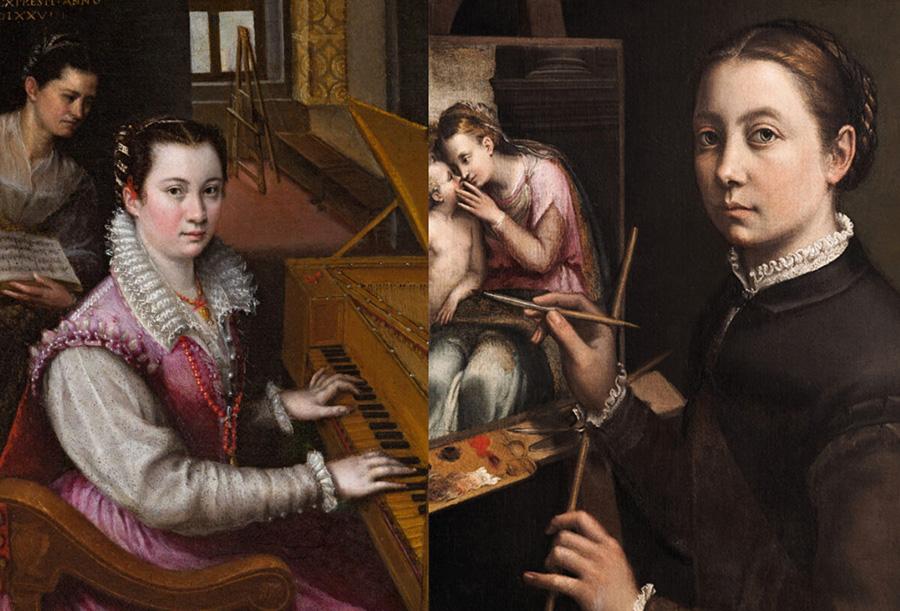 Anguissola y Lavinia Fontana, pintoras del siglo XVI