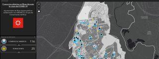 Mapa de comercios de Rivas que siguen prestando servicios
