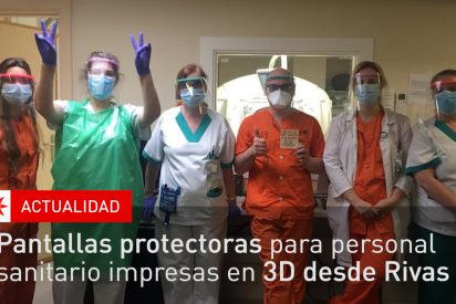 Pantallas protectoras sanitarias impresas en Rivas