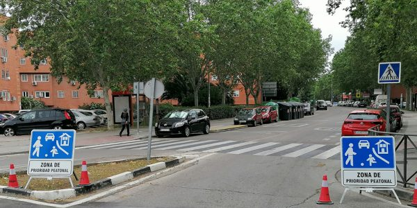 Varias calzadas de Covibar pasan a ser de prioridad peatonal