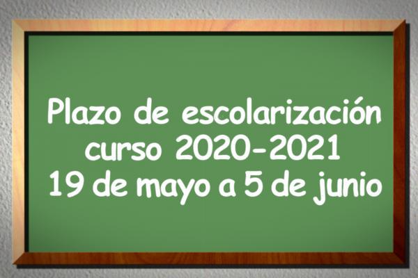 Plazo de escolarización para el curso 2020-2021 en Rivas