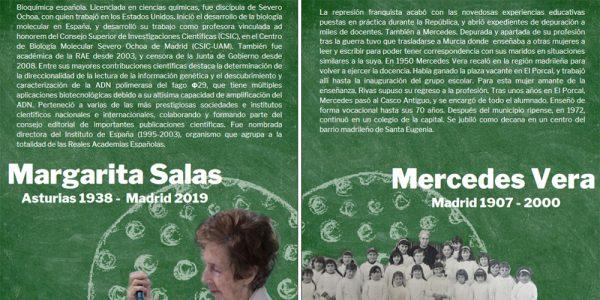 El nuevo colegio e instituto de Rivas se llamarán Mercedes Vera y Margarita Salas