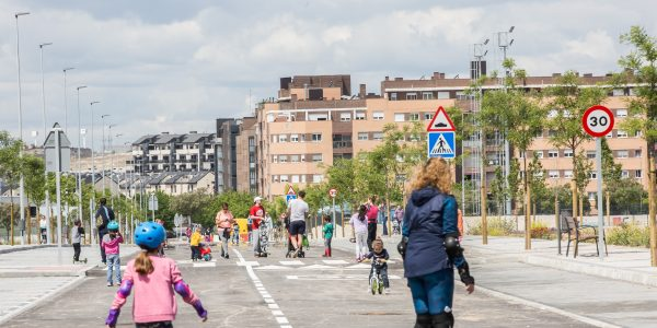 Más calles con tramos peatonales en Rivas