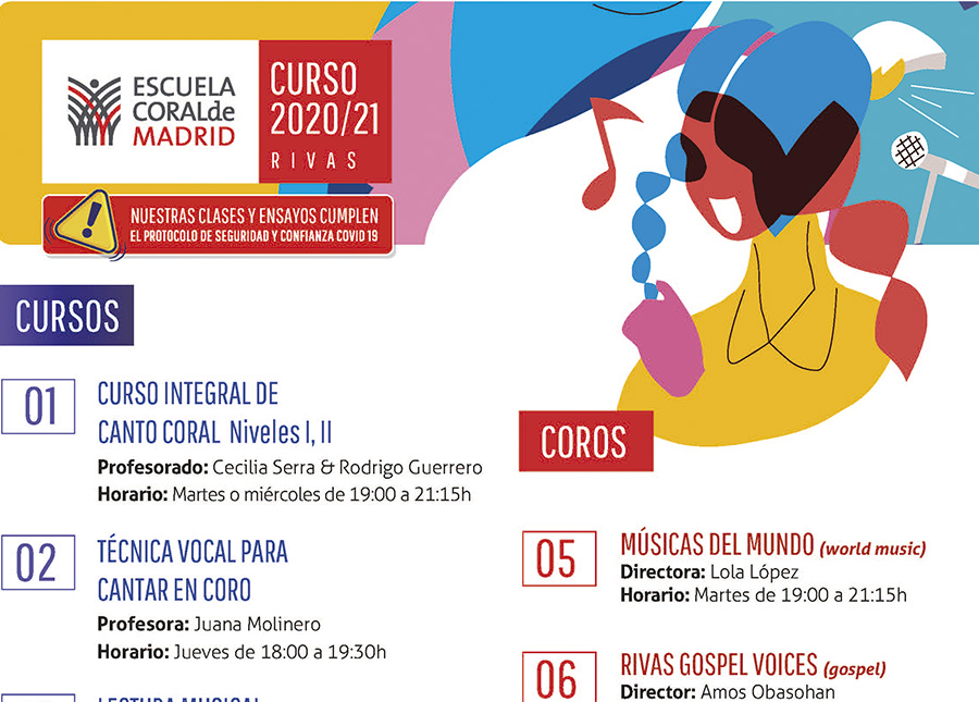 Escuela Coral de Madrid en Rivas: góspel, músicas del mundo, rock...