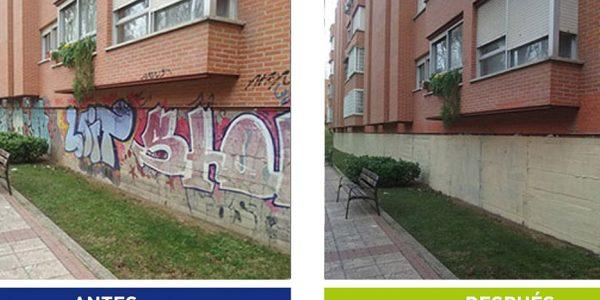 3.500 m2 de pintadas se borran al mes de la vía pública