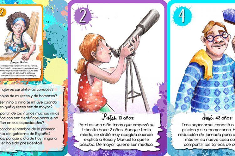 'Diversas': el juego de cartas pedagógico sobre la igualdad