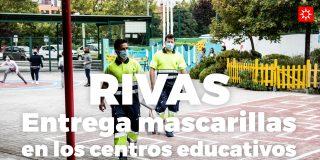 Rivas entrega mascarillas en los centros educativos
