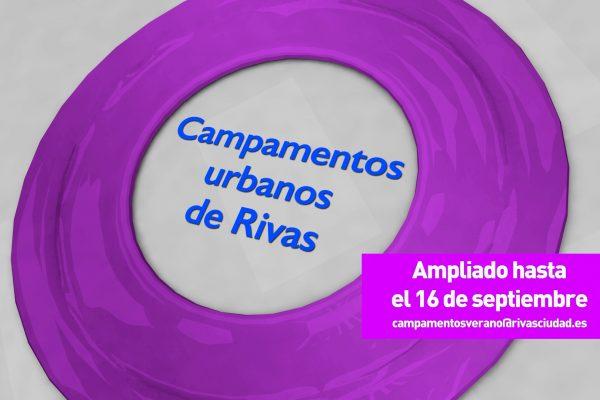 Campamentos urbanos de Rivas 2020. Ampliados hasta el 16 de septiembre