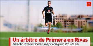 Valentín Pizarro Gómez, un árbitro de Primera en Rivas