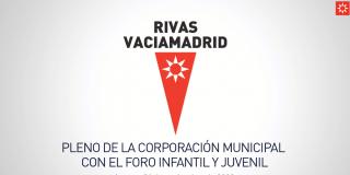 Pleno de la corporación municipal con el foro infantil y juvenil