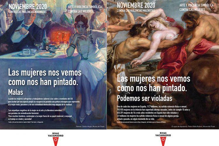 25N en Rivas: arte y violencia simbólica contra las mujeres