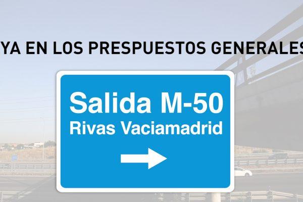 Salida M-50 Rivas: ya en los Presupuestos del Estado