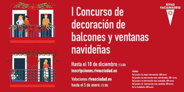 Concurso navideño de balcones para todo Rivas