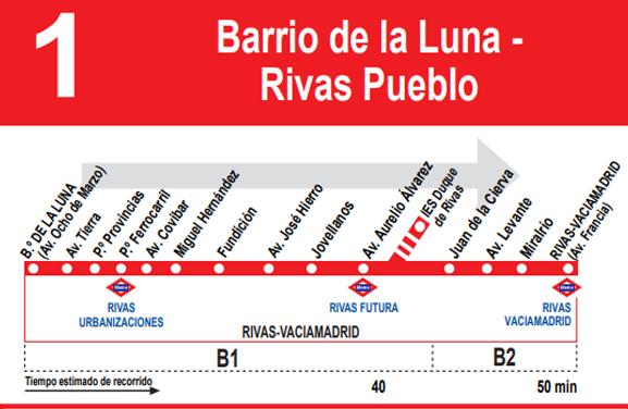 La Línea 1 de autobús amplía su recorrido hasta la avenida de Los Almendros