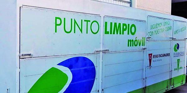 Nuevo punto limpio móvil en Rivas de jueves a domingo
