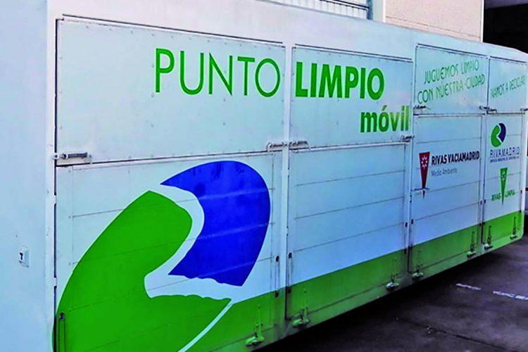 Punto limpio móvil en Rivas: de jueves a domingo