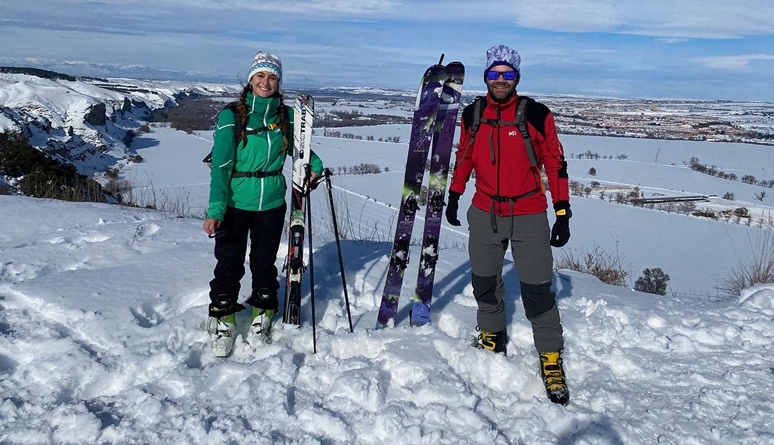 Una nevada para esquiar o correr por Rivas