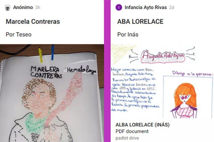 Un mural infantil de Rivas para el Día de la Niña y la Mujer en la Ciencia